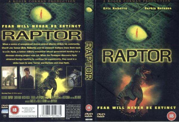 Raptor (2001) UK DVD (BQ)