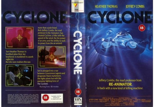 Cyclone (1987) VHS