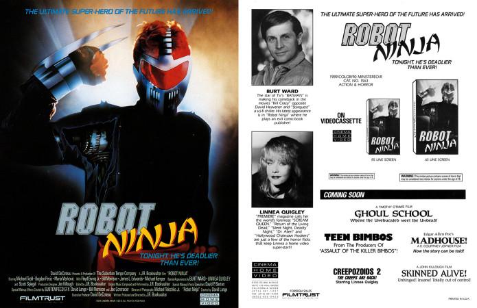 Robot Ninja (1989) - Trade Ad