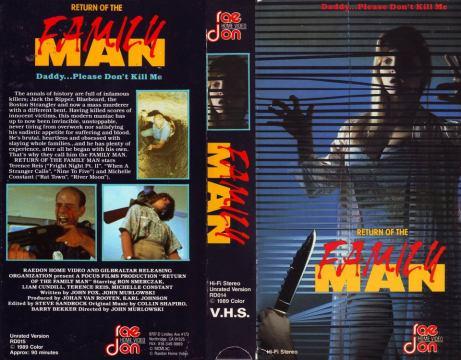 Return of the Family Man (1989) - US VHS
